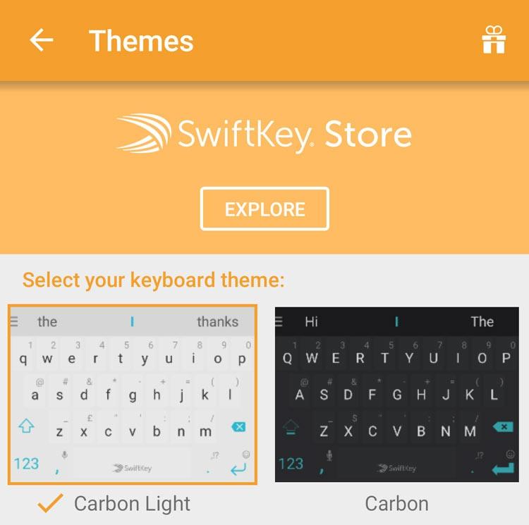 Tienda de temas para SwiftKey